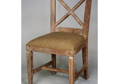 Chair Dining Crossed Back Tan Timber