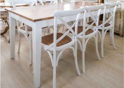 Dining Table White-Timber Top
