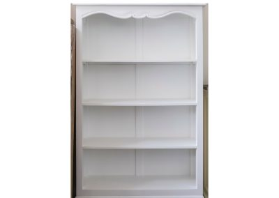 Queen Anne White Bookcase