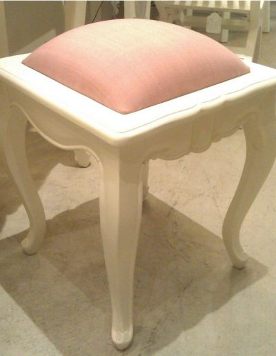 Small Stool Pink Seat
