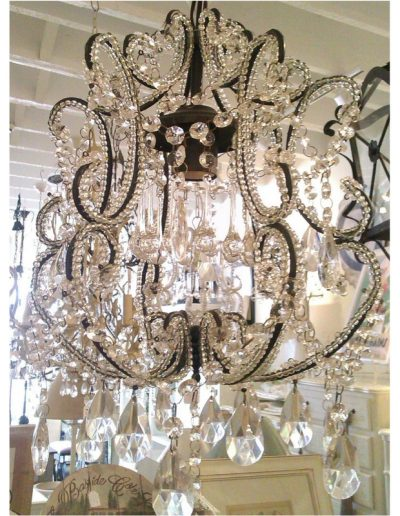 black small chandelier