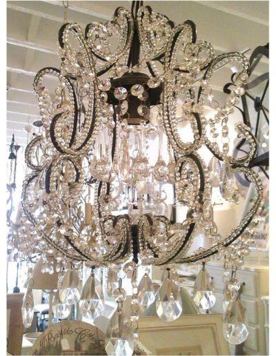 black small chandelier