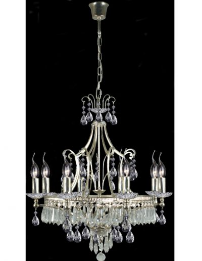 chandelier Silver - Chrystals - 8 lights