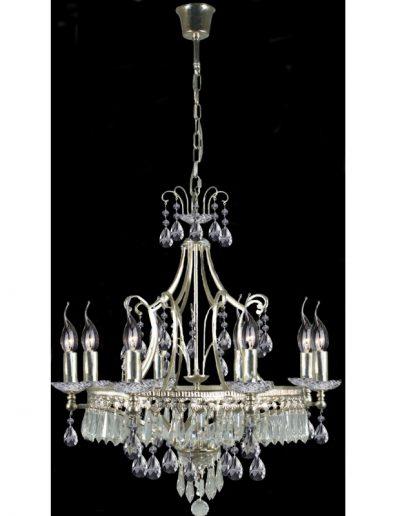 chandelier Silver - Chrystals - 8 lights