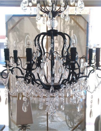 large black chandelier 8 lights