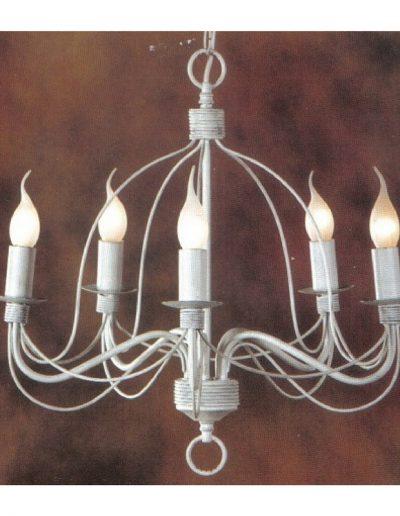 white candlabra 5 lights