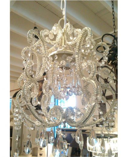 white small chandelier