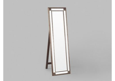Mirror cheval gold