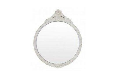 Small mirror classical white