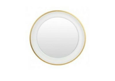 Small white and gold mirror