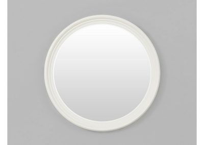 elegant white round