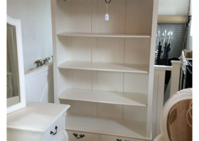 Bookcase white - 3 shelves - 2 draws