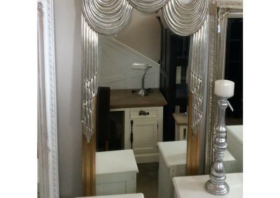 Mirror Art-Deco Silver-Gold