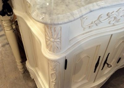 Marble Top view - Bathroom Furniture White