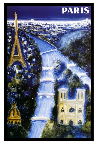 Paris by Villemot 50x70 cm